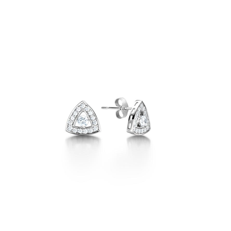 Triangular Halo Earrings