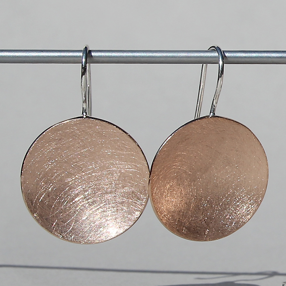 Circle Rose Gold Plate Earrings