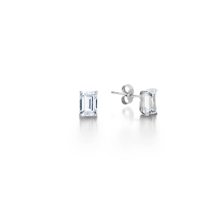 Emerald Cut Earring