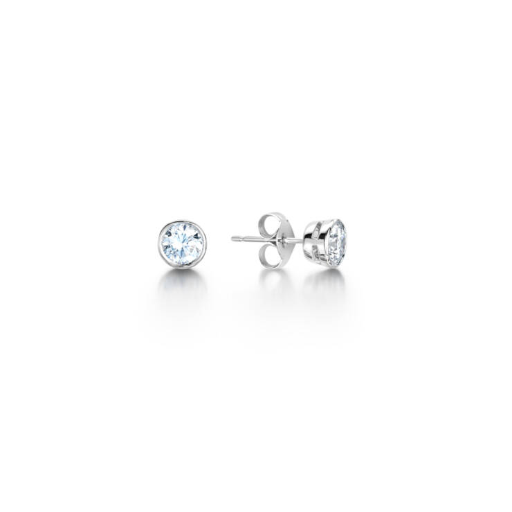 Round Diamond Earring