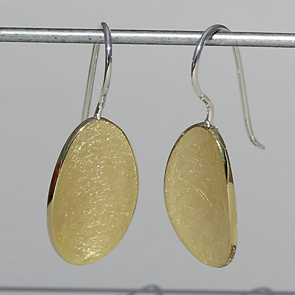 Oval Drop old Plated Earrings