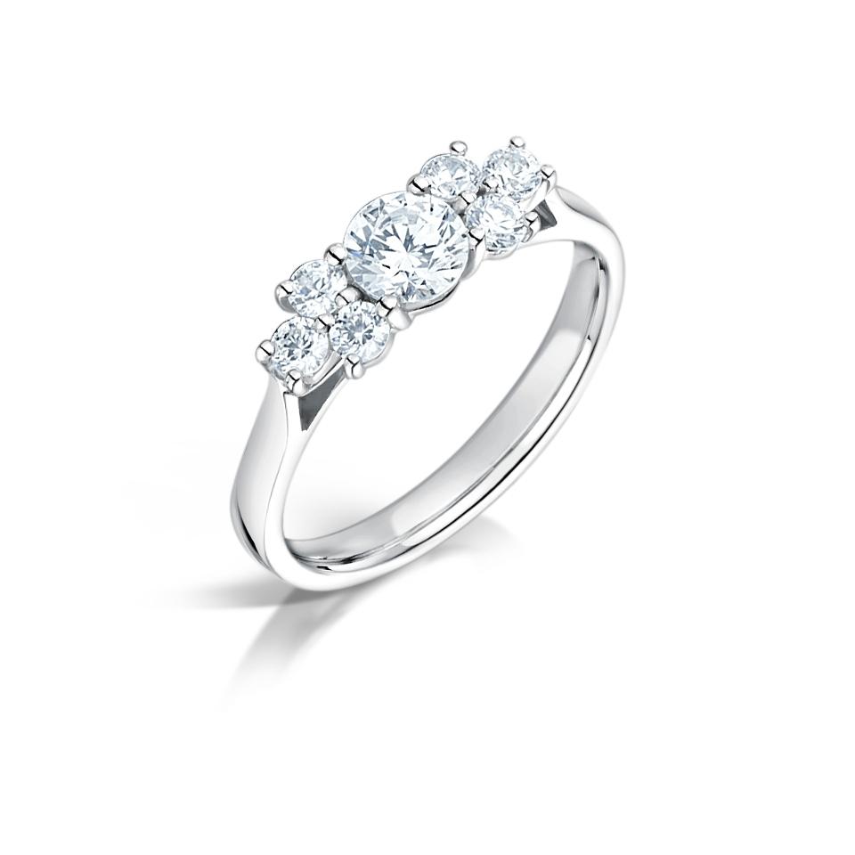 7 stone diamond