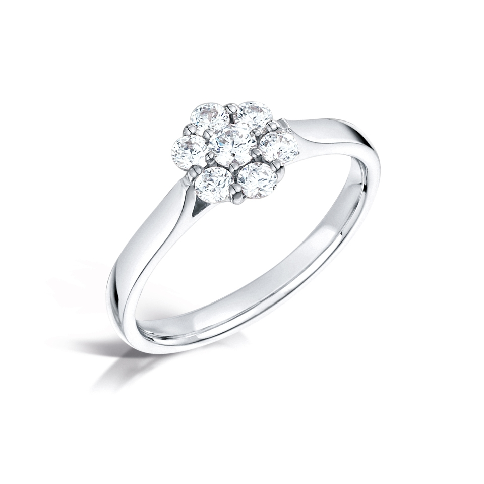 Cluster ring with claw setting