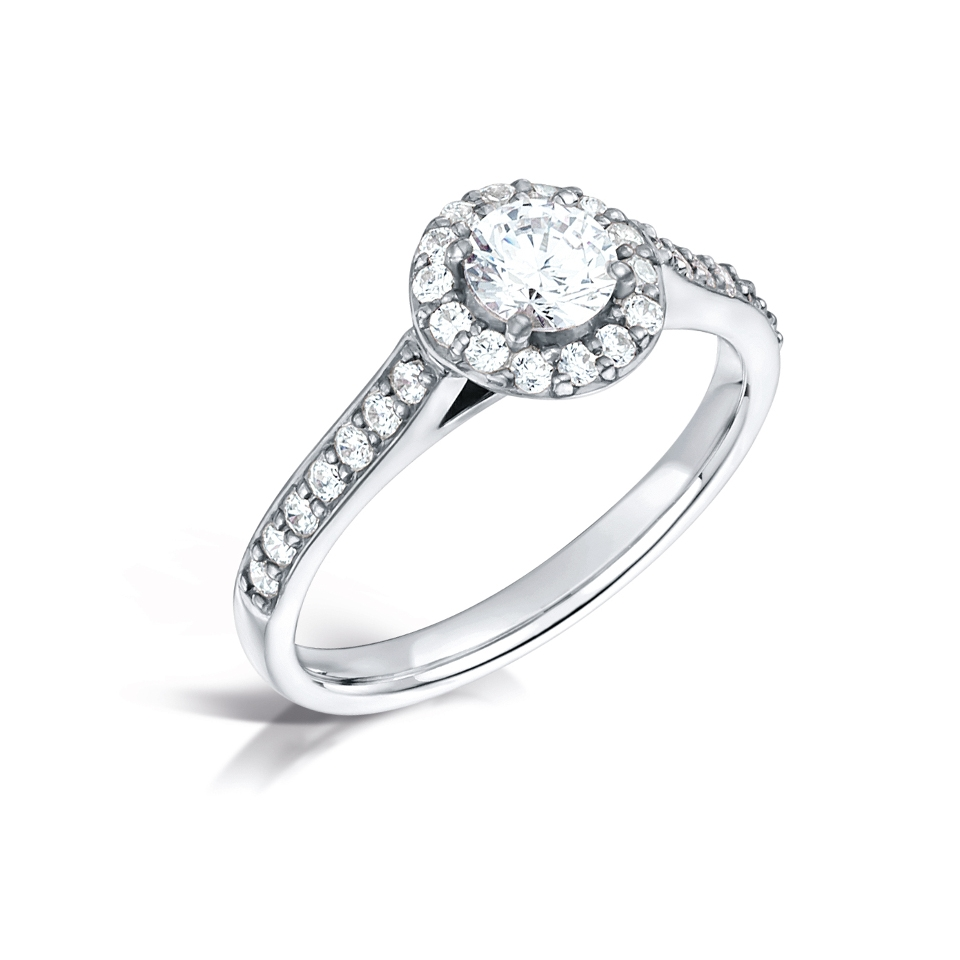 Halo with Pave Shoulders
