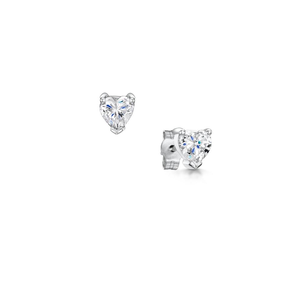 Heart Cut Diamomd Earrings